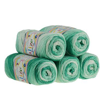 5 x 100g Strickgarn ALIZE SEKERIM BEBE BATIK Strick-Wolle Babywolle Häkelgarn Farbwahl – Bild 9