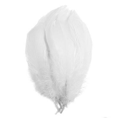 20 Gänsefedern Kostümzubehör ca. 14-17,5x4-5cm Farbwahl, Federn Bastelfedern – Bild 15