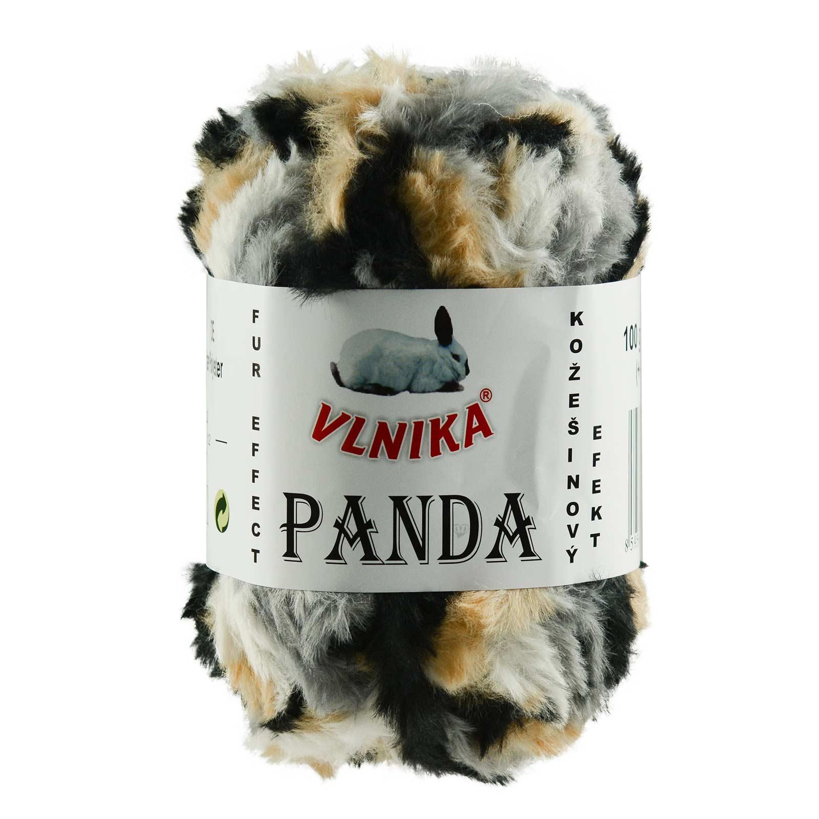 100g Strickgarn Panda Strick-Wolle Webpelz-Garn Kuschelwolle Plüschwolle  – Bild 15