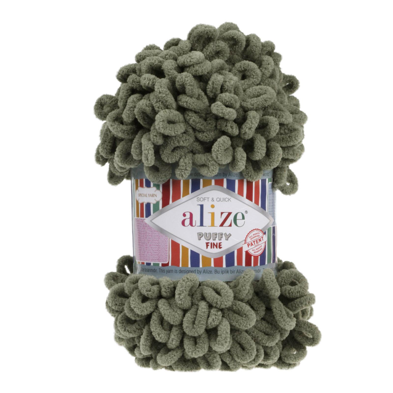 100g Strickgarn ALIZE Puffy Fine Uni, Fingerstrick Fingerstrick-Wolle ohne Nadel – Bild 12