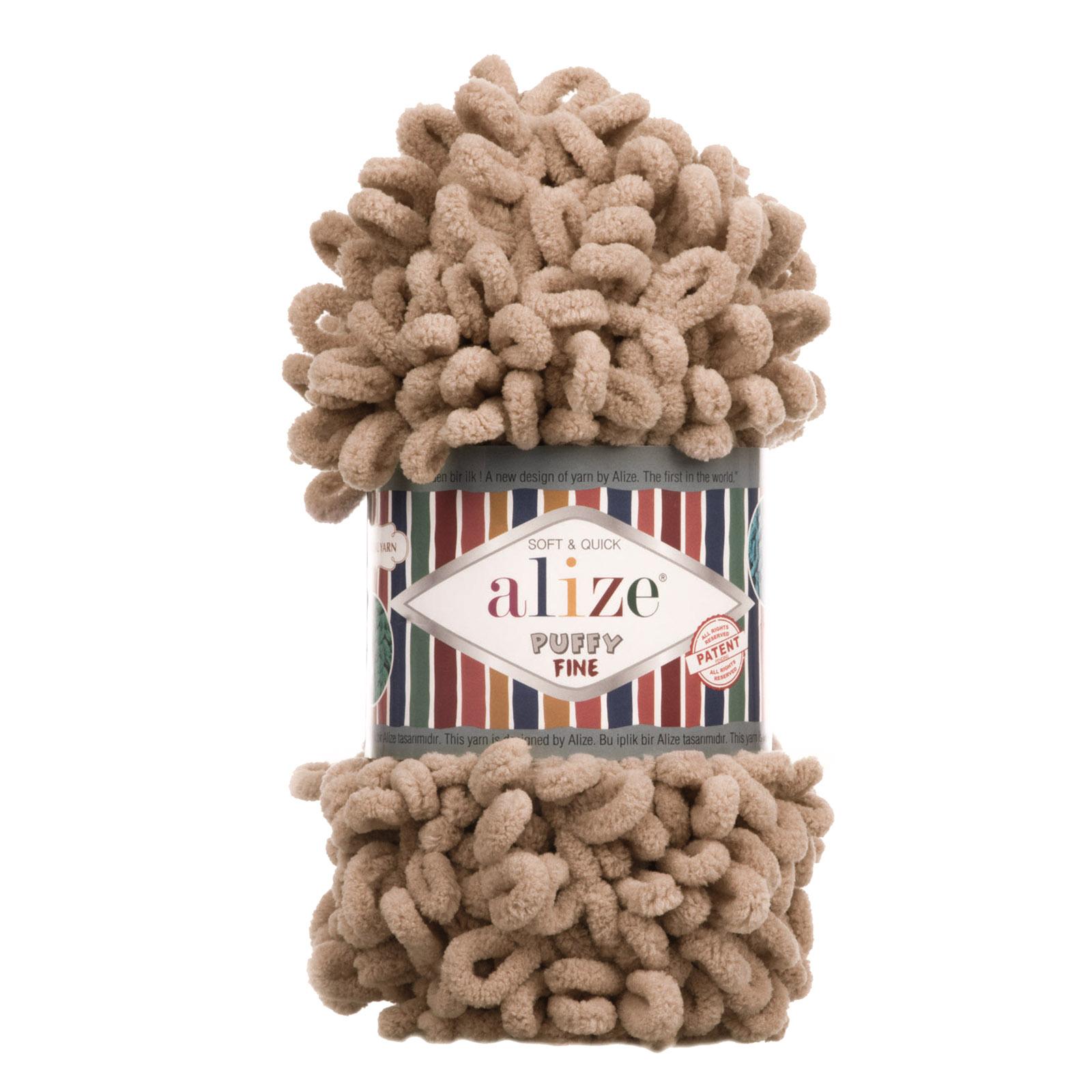 100g Strickgarn ALIZE Puffy Fine Uni, Fingerstrick Fingerstrick-Wolle ohne Nadel – Bild 14
