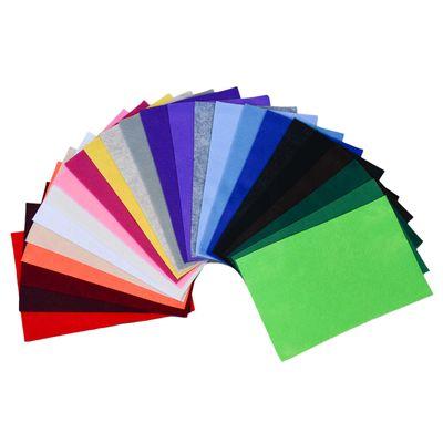 24 Bastelfilz Bögen flex DIN A4, ca. 1,5 180-200g/m² Filzplatte farbig sortiert
