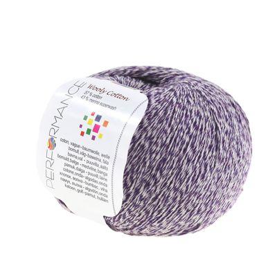 500g Strickgarn WOOLY COTTON Baumwolle m. 43% Merino-Wolle veredelt Naturgarn – Bild 9