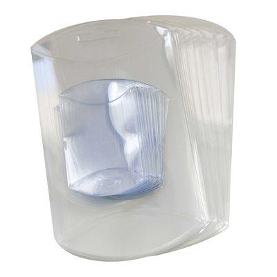 50 transparente Kissenboxen mit Euroloch, Blister-Verpackung Sichtverpackung