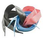 1 Paar Satin-Schnürsenkel seidig glänzend 110cm x 19mm f. Schuhe Sweatshirts 001