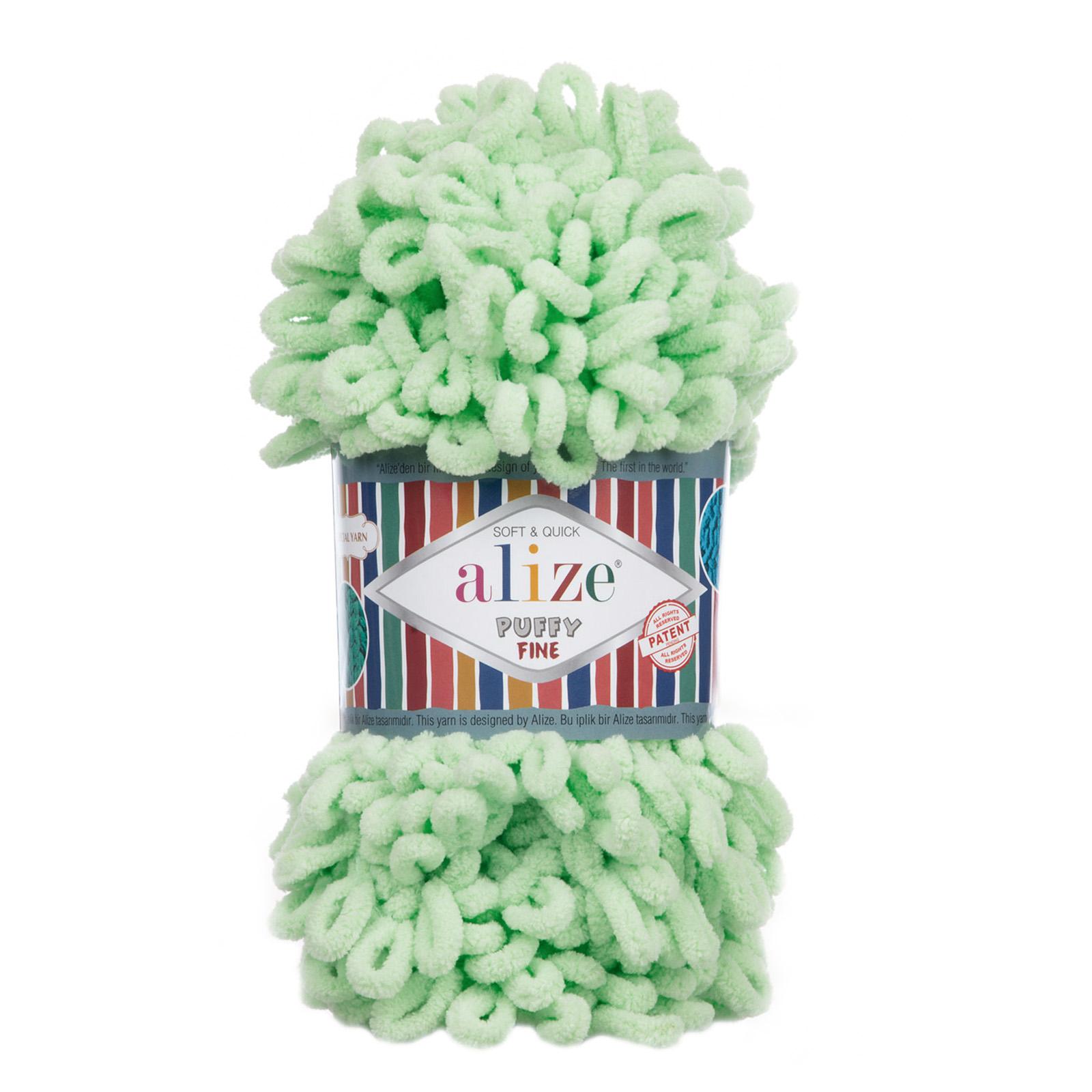 500g Strickgarn ALIZE Puffy Fine Uni, stricken ohne Nadeln auch für Anfänger geeignet – Bild 7