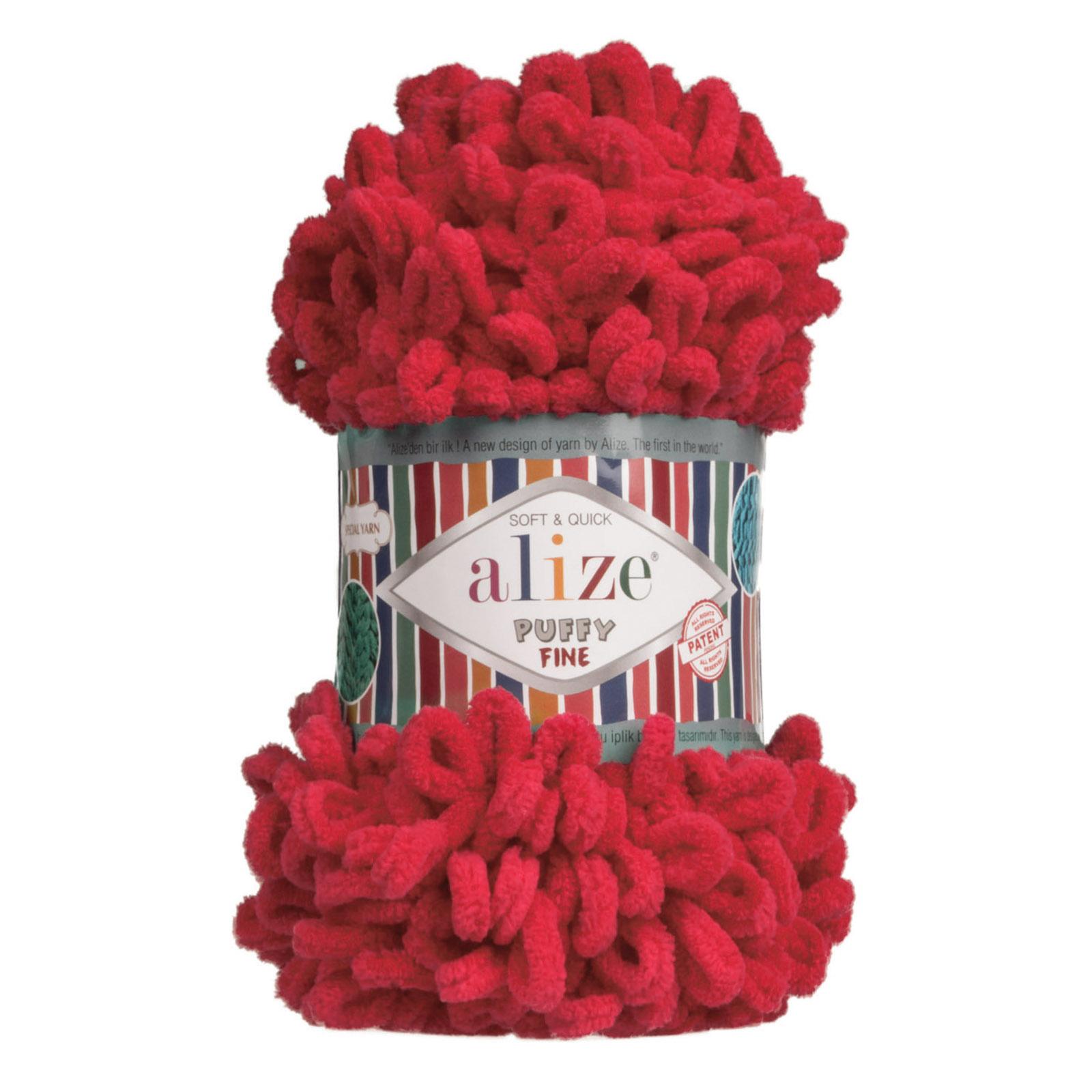 500g Strickgarn ALIZE Puffy Fine Uni, stricken ohne Nadeln auch für Anfänger geeignet – Bild 10