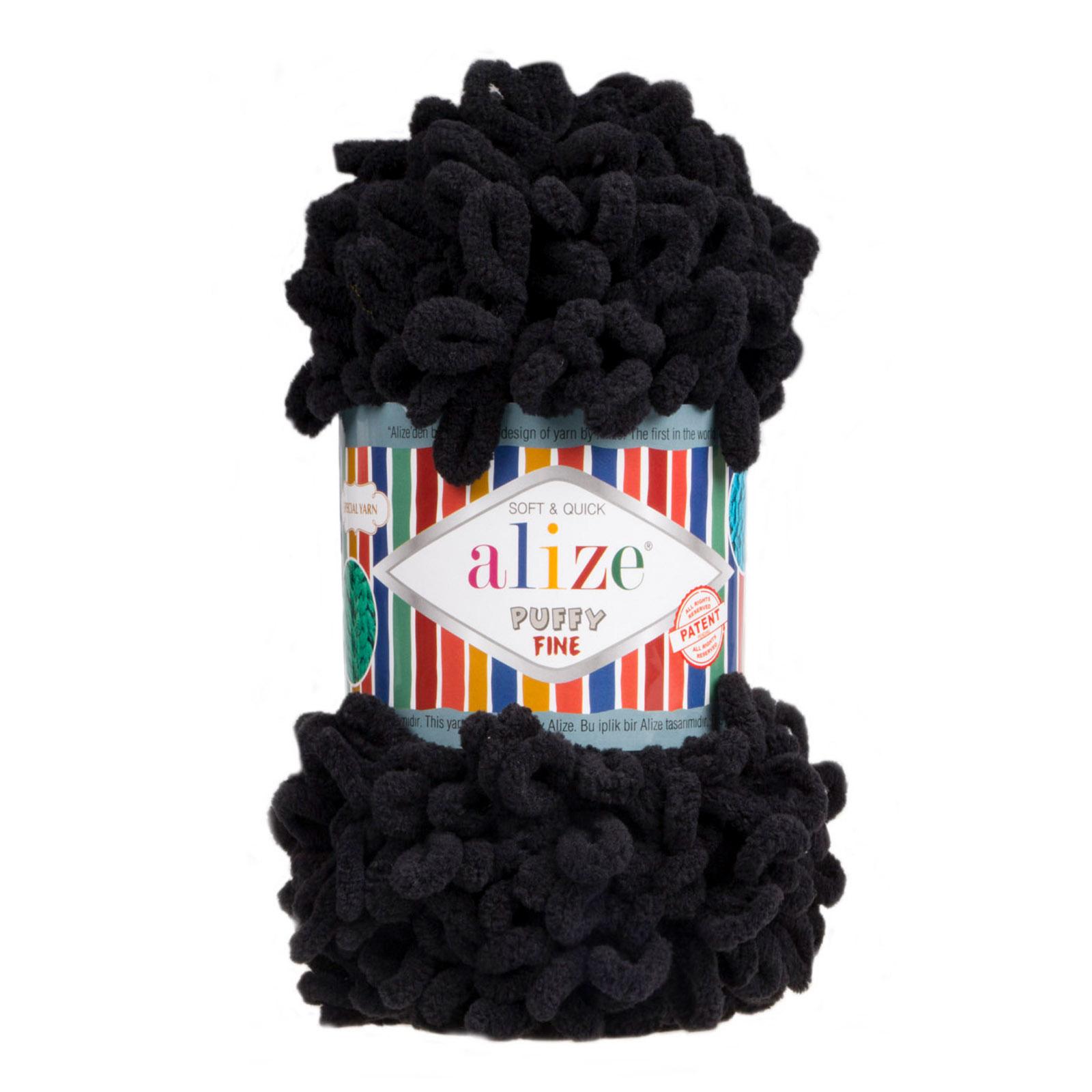 500g Strickgarn ALIZE Puffy Fine Uni, stricken ohne Nadeln auch für Anfänger geeignet – Bild 18