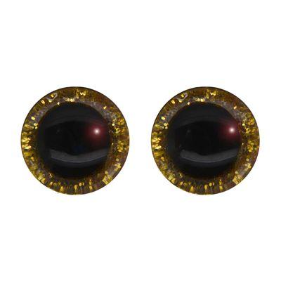 5 Paar Glitzer-Augen XL 30mm m. Gegenstück Puppenaugen Teddyaugen Amigurumi Farbwahl – Bild 7
