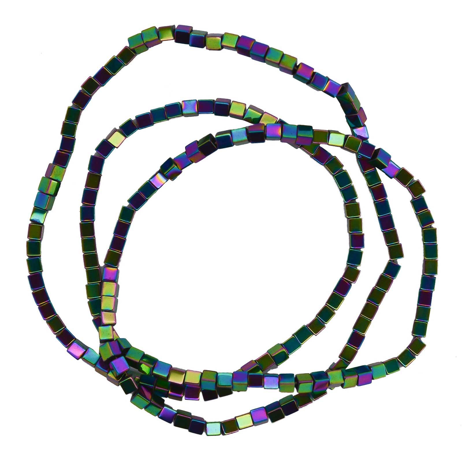 1 Strang Hämatit-Perlen Pfeile Kugel Würfel Schmuckperlen verschiedene Formen Farbwahl – Bild 8