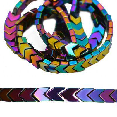 1 Strang Hämatit-Perlen Pfeile Kugel Würfel Schmuckperlen verschiedene Formen Farbwahl – Bild 2
