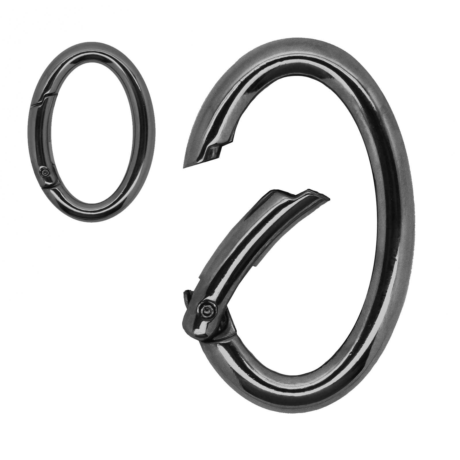 3 Ring-Karabiner Metall Karabinerhaken Schlüssel Verschluss Outdoor Tasche, Farbwahl Größenwahl – Bild 7