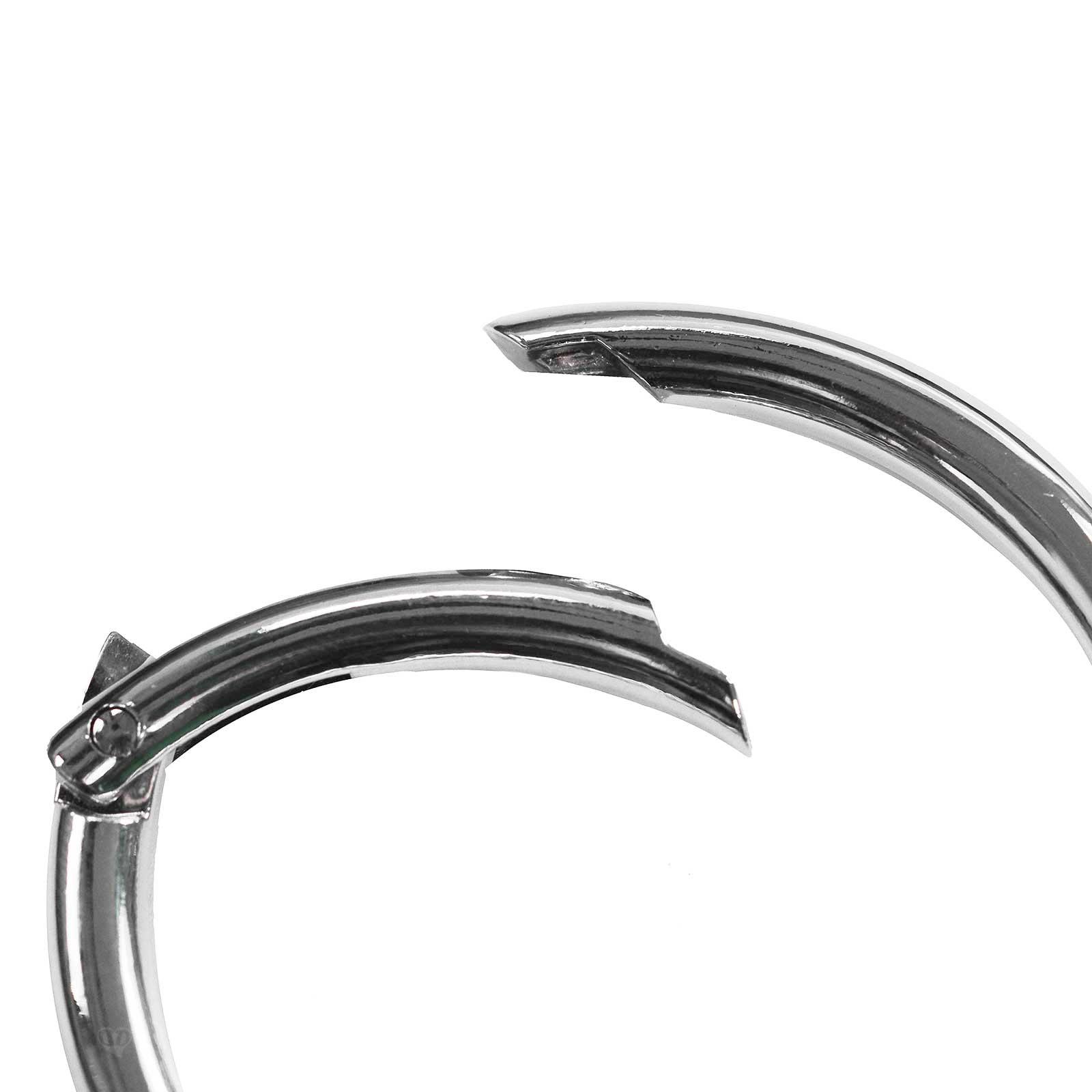 3 Ring-Karabiner Metall Karabinerhaken Schlüssel Verschluss Outdoor Tasche, Farbwahl Größenwahl – Bild 22