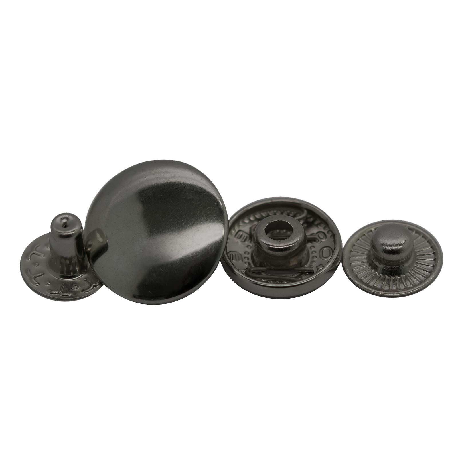 200 Stk Druckknopf Set rund S-Feder Verschlüsse Schnappknopf Metall Größen- /Farbwahl – Bild 10
