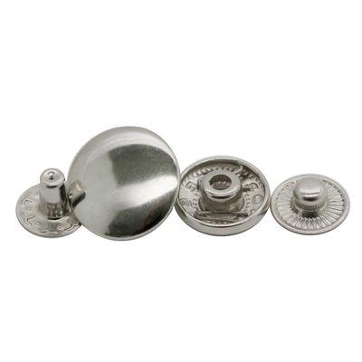 200 Stk Druckknopf Set rund S-Feder Verschlüsse Schnappknopf Metall Größen- /Farbwahl – Bild 6
