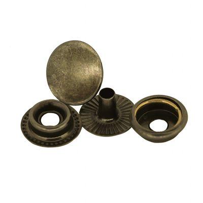 200 Stk Druckknopf Set rund Ring-Feder Verschlüsse Schnappknopf Metall Größen- /Farbwahl – Bild 3