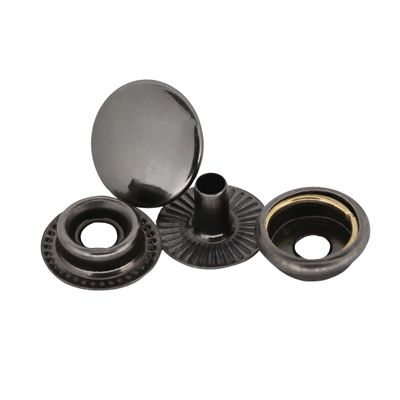 200 Stk Druckknopf Set rund Ring-Feder Verschlüsse Schnappknopf Metall Größen- /Farbwahl – Bild 10