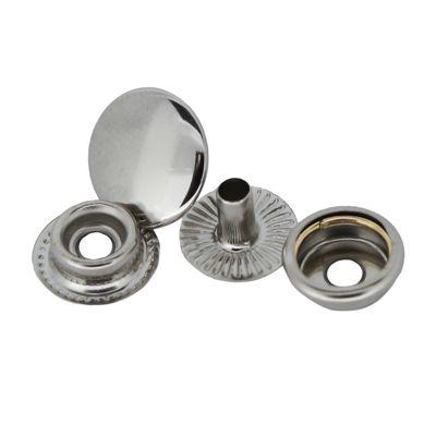 200 Stk Druckknopf Set rund Ring-Feder Verschlüsse Schnappknopf Metall Größen- /Farbwahl – Bild 2