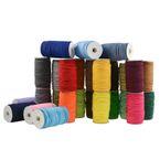 50m Spule Gummikordel Gummischnur 2mm Bekleidungsgummi Hutgummi, 27 Farben 001