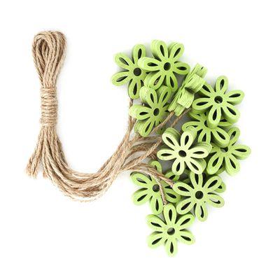 12 Holz-Deko Streudeko Schmetterling Herz Blume Blüte 25-35mm Farbmix, Motivwahl – Bild 7