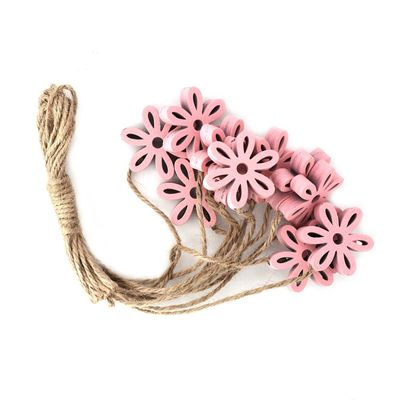 12 Holz-Deko Streudeko Schmetterling Herz Blume Blüte 25-35mm Farbmix, Motivwahl – Bild 6