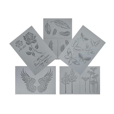3/5 Flexible Schablonen Kunststoff 21x14,8cm / 30x31cm, Motivmix - DIY  – Bild 4