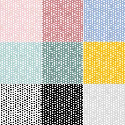 0,5m Baumwollstoff BeHappy Motiv Geometric OEKOTEX Meterware 150cm breit, Farbwahl – Bild 1