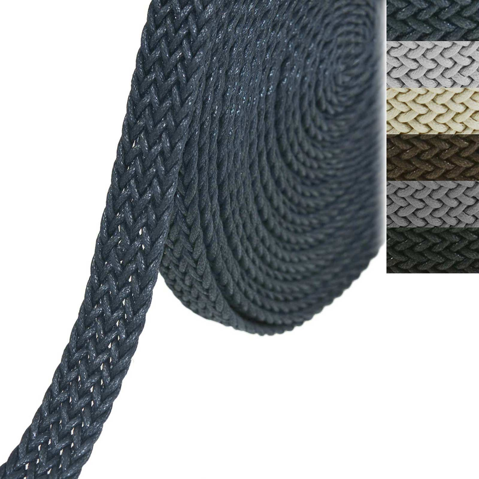 5m Gurtband geflochten Baumwolle Gurt-Bänder Kurzwaren Taschengurt Variantenwahl