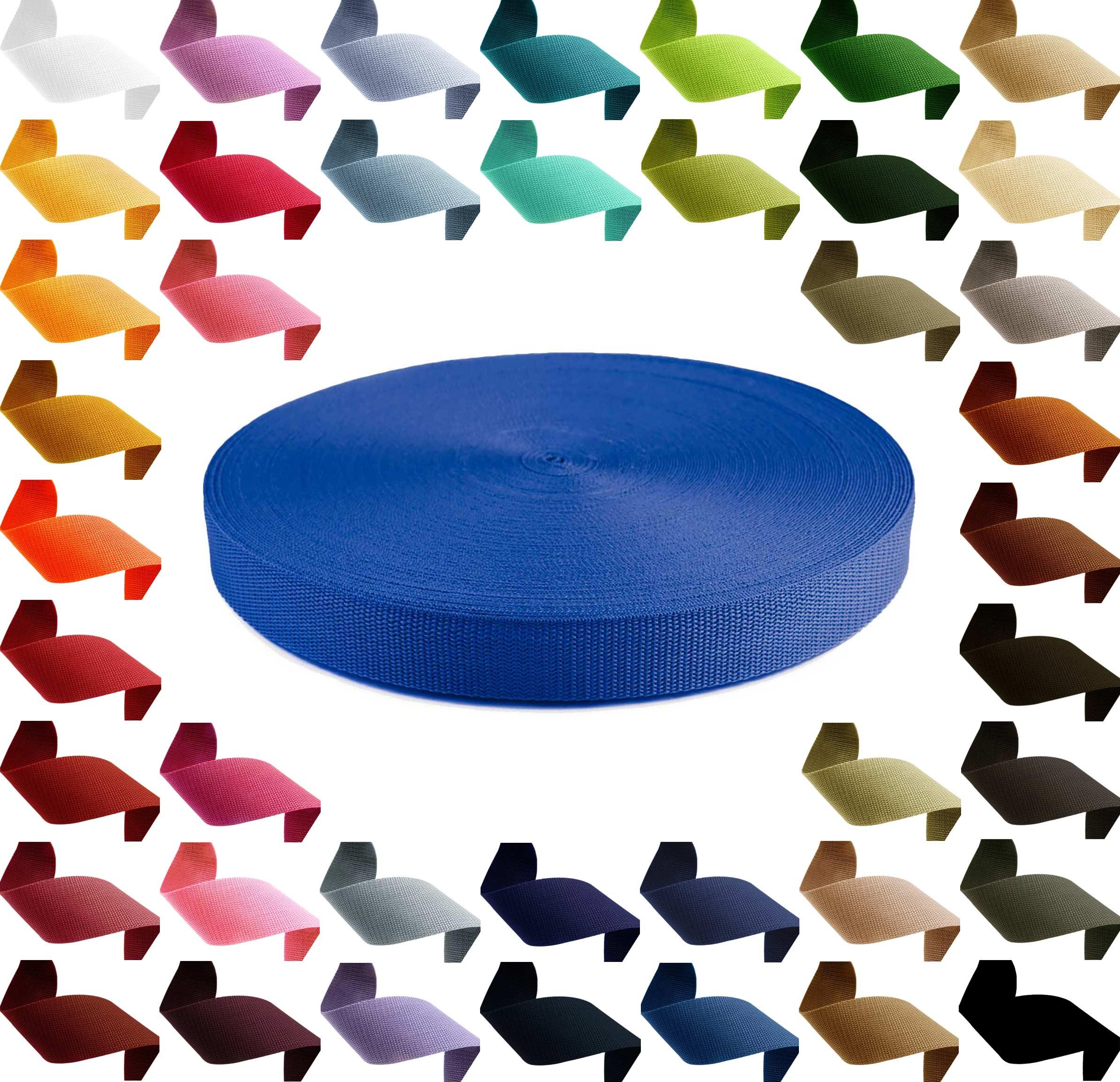 1m PP Gurtband, Polypropylen, 10mm breit, 1,3mm stark, Farbwahl – Bild 1