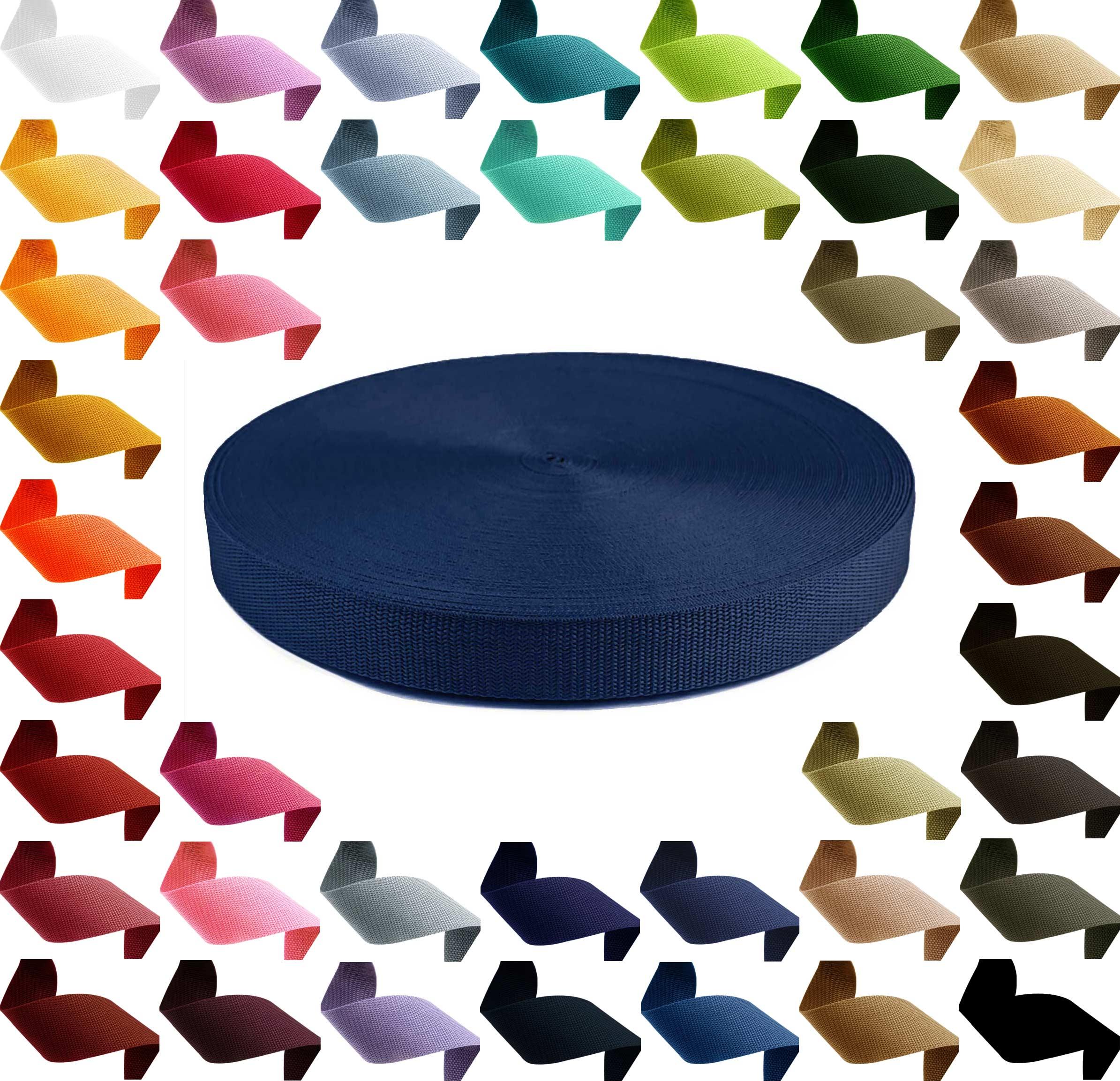 1m PP Gurtband, Polypropylen, 10mm breit, 1,3mm stark, Farbwahl – Bild 5