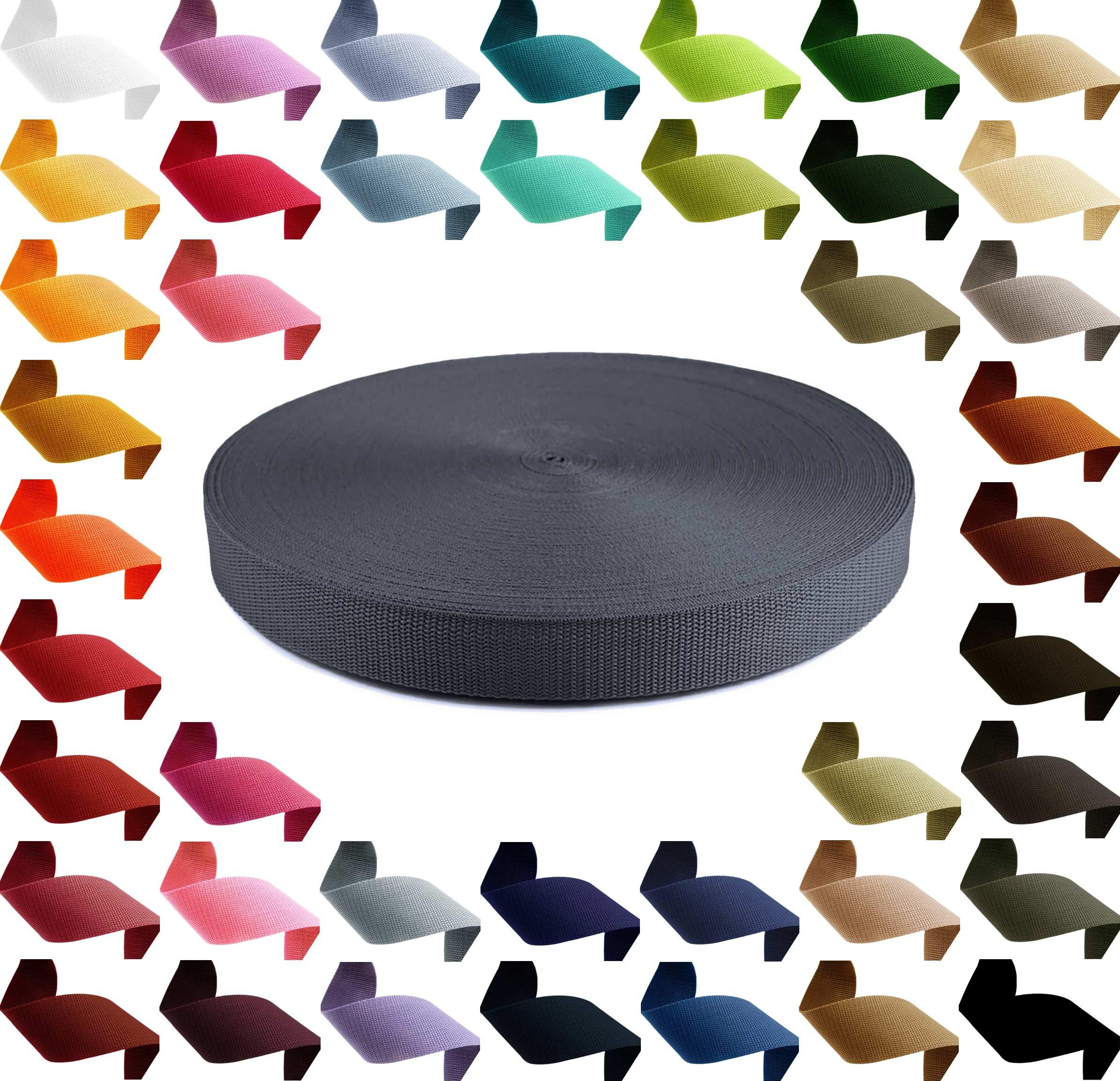 1m PP Gurtband, Polypropylen, 10mm breit, 1,3mm stark, Farbwahl – Bild 6