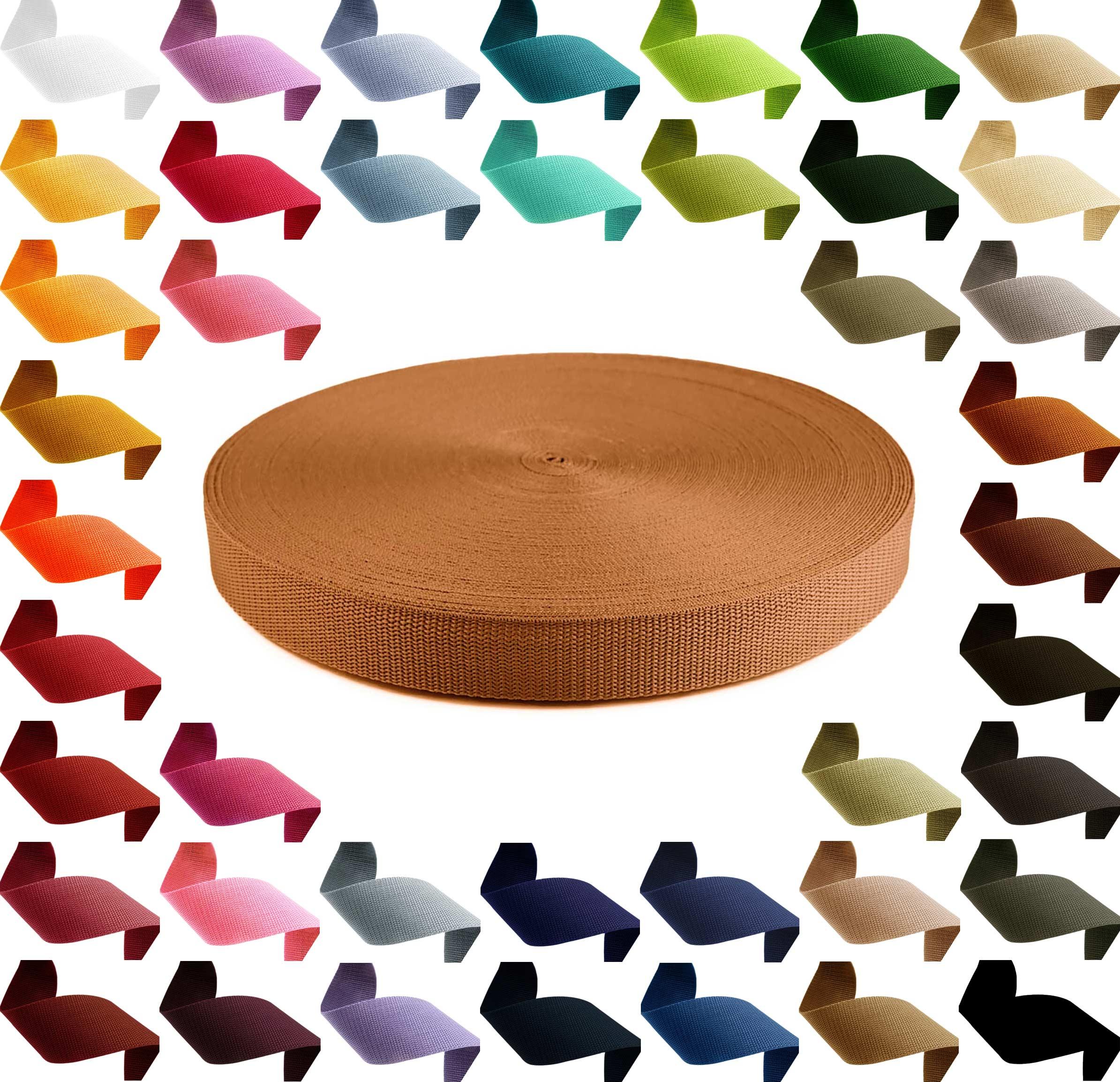 1m PP Gurtband, Polypropylen, 10mm breit, 1,3mm stark, Farbwahl – Bild 13
