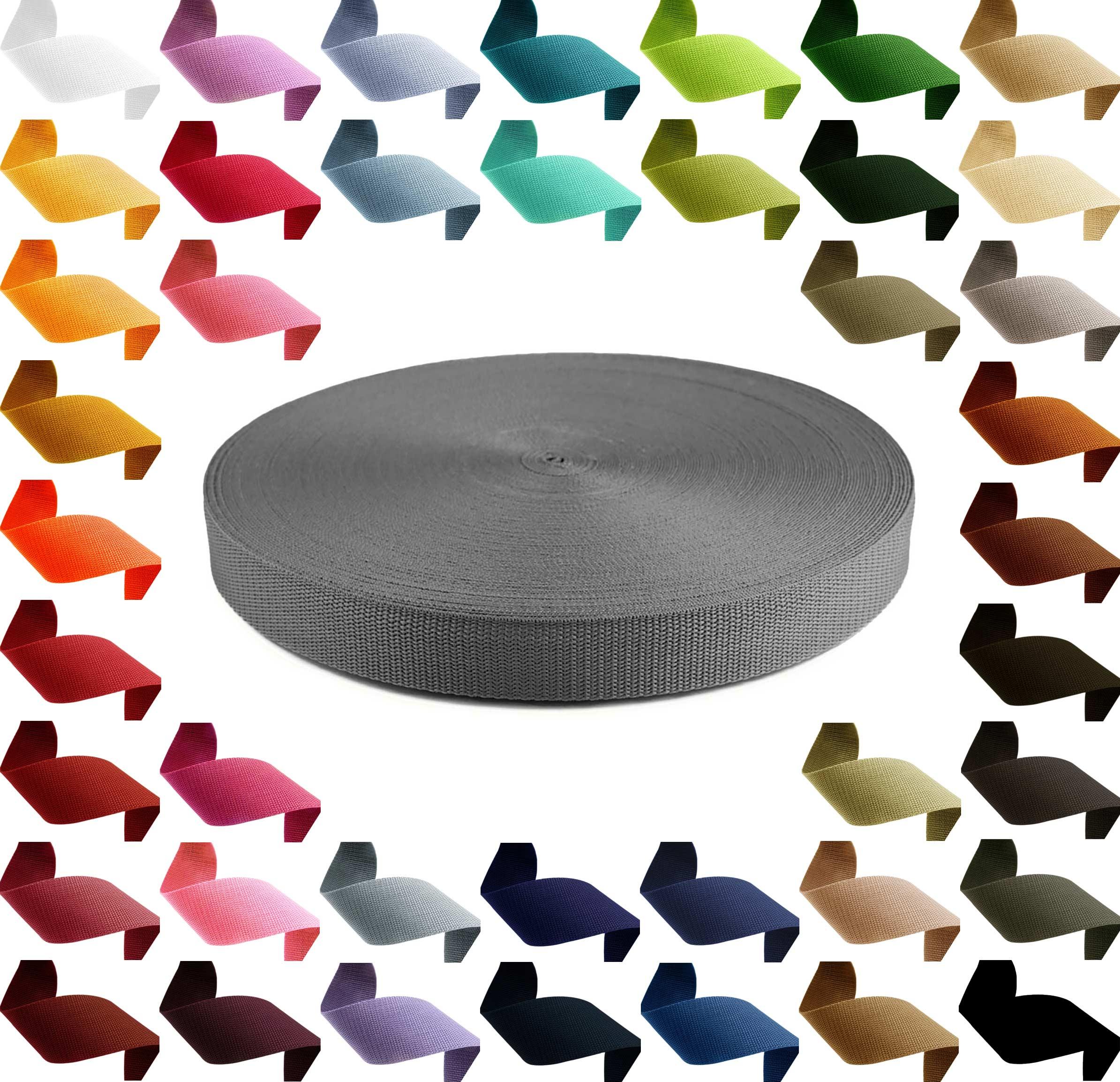 1m PP Gurtband, Polypropylen, 10mm breit, 1,3mm stark, Farbwahl – Bild 15
