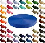1m PP Gurtband, Polypropylen, 10mm breit, 1,3mm stark, Farbwahl 001
