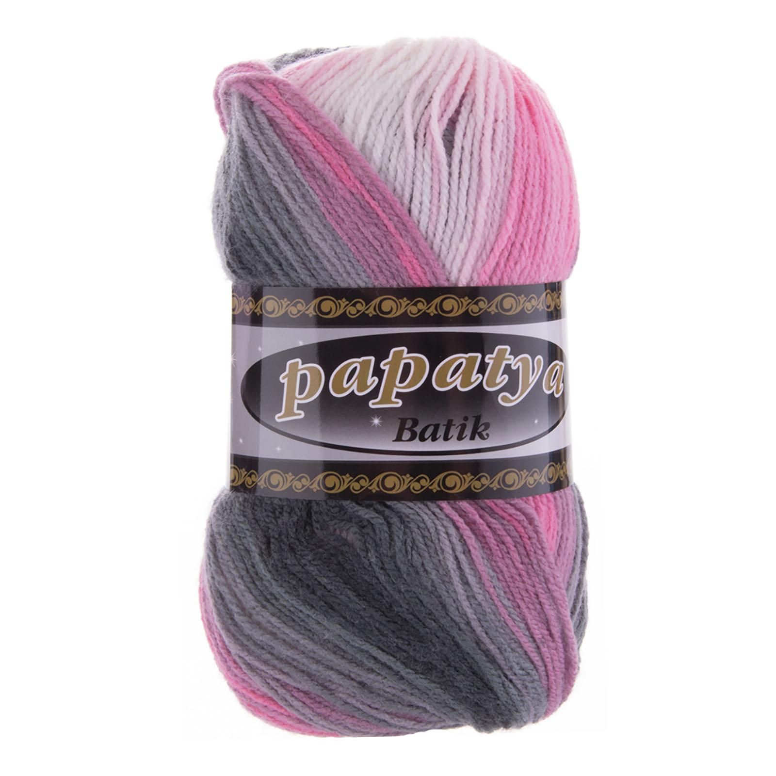 100g Farbverlaufsgarn Papatya Batik Strick-Wolle Strickgarn Häkelgarn Farbwahl – Bild 8