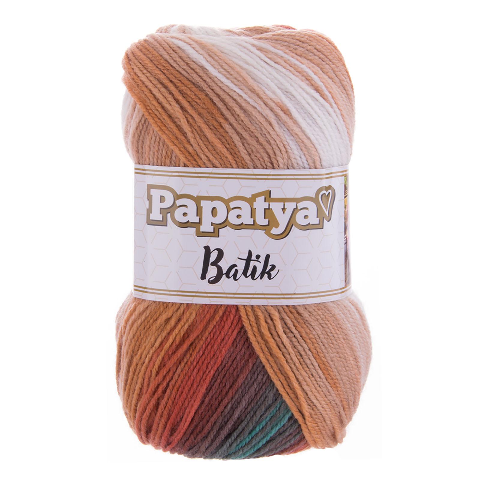100g Farbverlaufsgarn Papatya Batik Strick-Wolle Strickgarn Häkelgarn Farbwahl – Bild 2