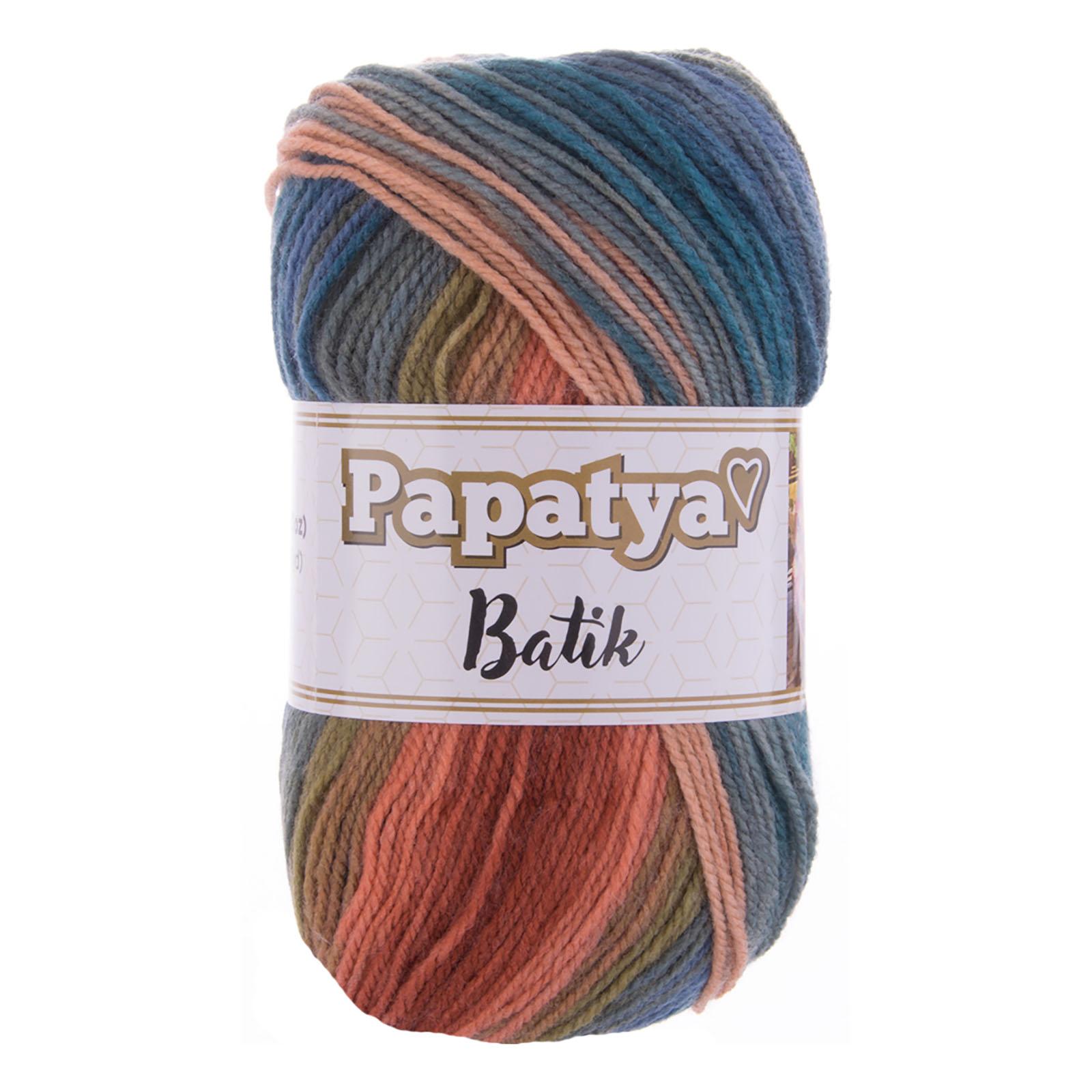 100g Farbverlaufsgarn Papatya Batik Strick-Wolle Strickgarn Häkelgarn Farbwahl – Bild 5