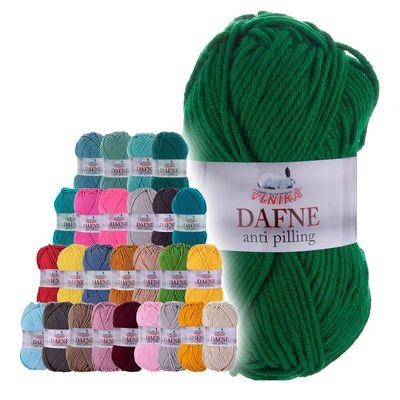 100g Strickgarn Dafne Strick-Wolle Polyacryl Anti Pilling Effekt Farbwahl