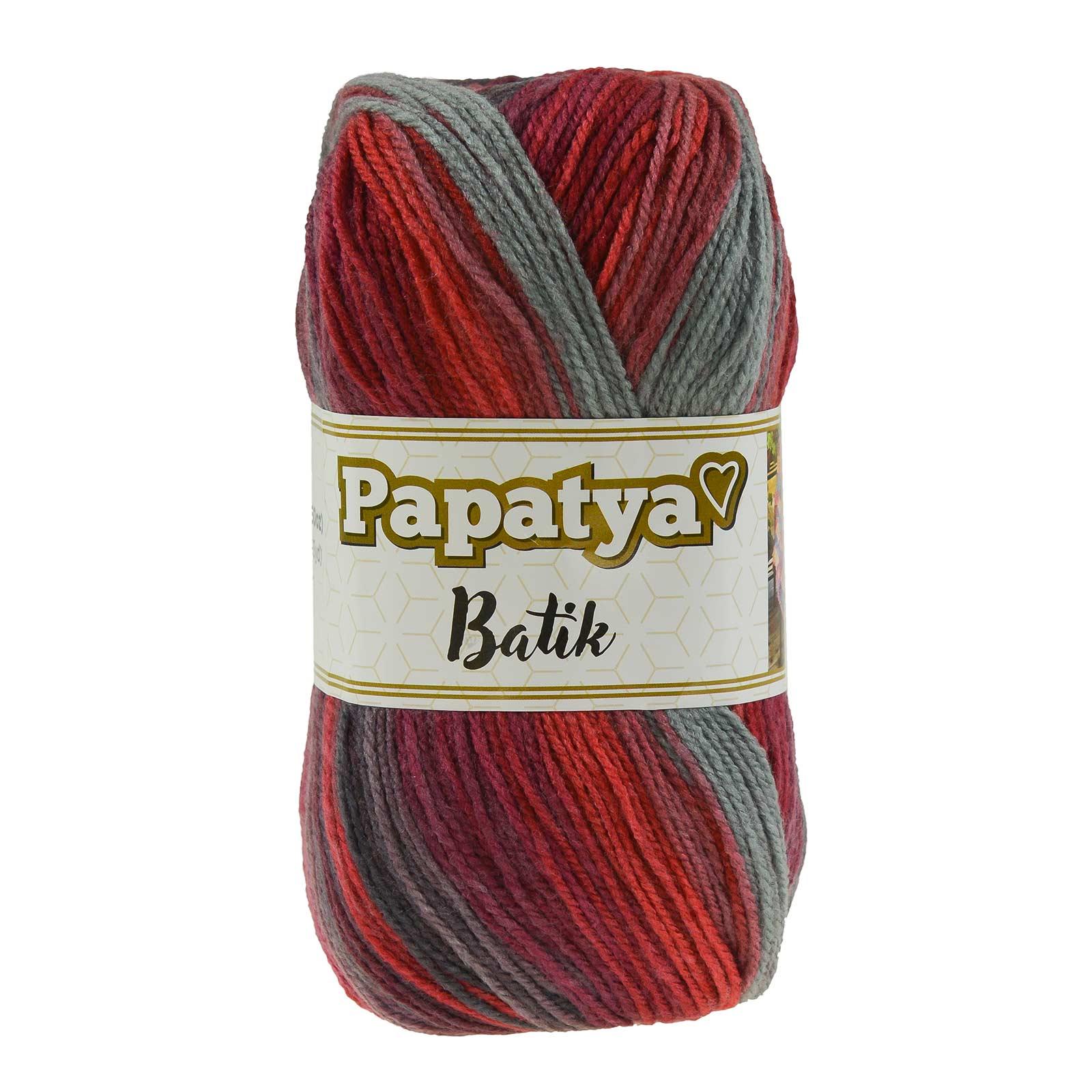 500g Farbverlaufsgarn Papatya Batik Strick-Wolle Strickgarn Häkelgarn Farbwahl – Bild 20