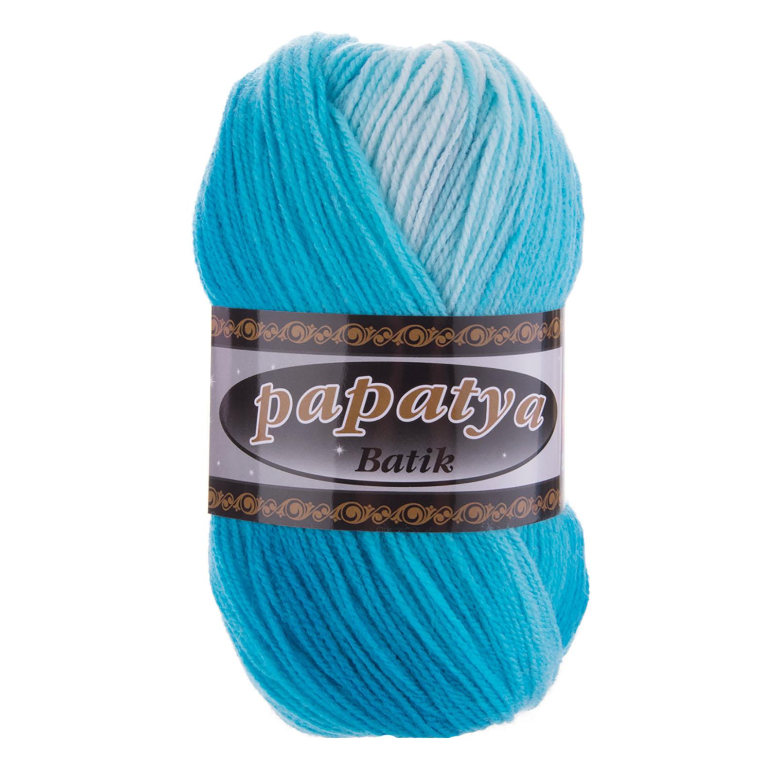 500g Farbverlaufsgarn Papatya Batik Strick-Wolle Strickgarn Häkelgarn Farbwahl – Bild 9