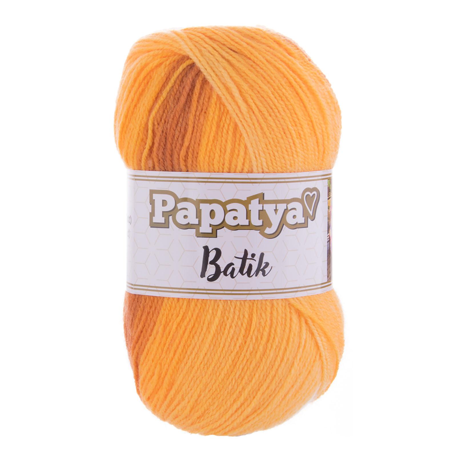 500g Farbverlaufsgarn Papatya Batik Strick-Wolle Strickgarn Häkelgarn Farbwahl – Bild 13