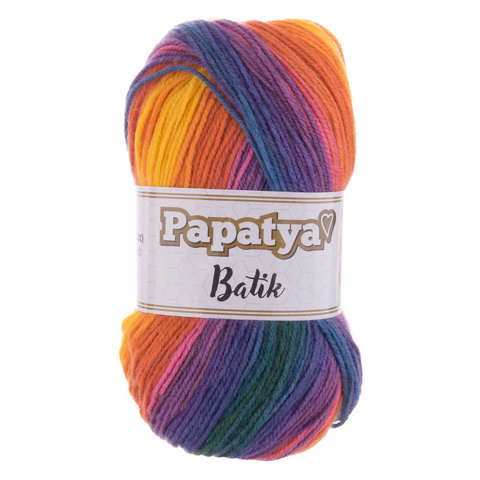 500g Farbverlaufsgarn Papatya Batik Strick-Wolle Strickgarn Häkelgarn Farbwahl – Bild 6