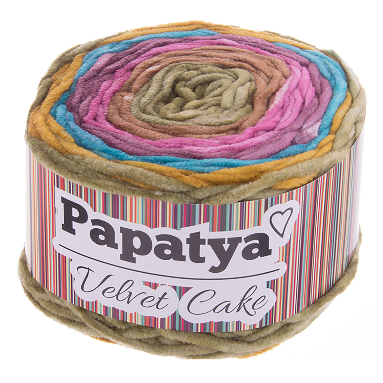 150g Farbverlaufsgarn Papatya Velvet Cake Bobbel Chenille-Strickgarn Strick-Wolle Strickgarn Farbwahl – Bild 6