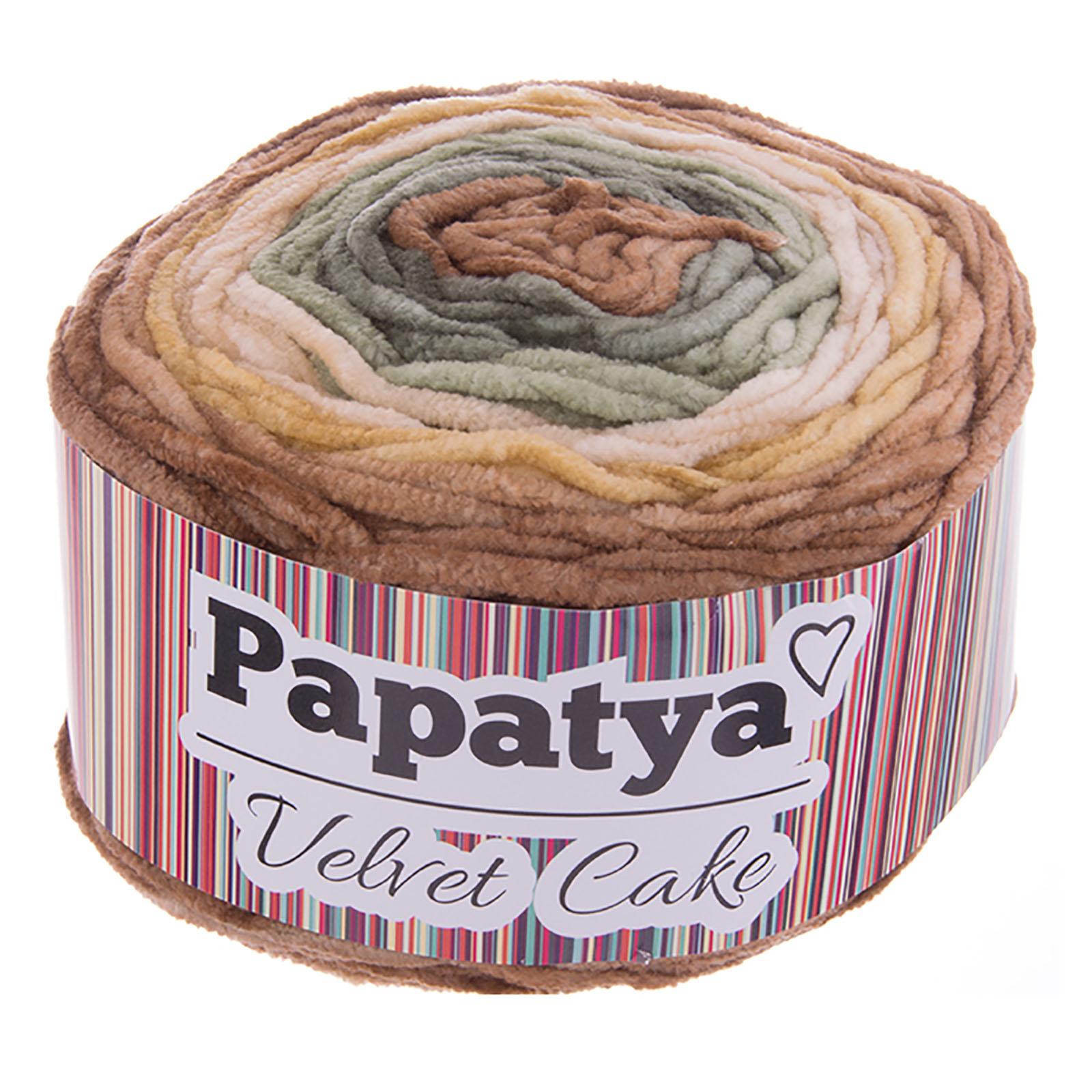 150g Farbverlaufsgarn Papatya Velvet Cake Bobbel Chenille-Strickgarn Strick-Wolle Strickgarn Farbwahl – Bild 4