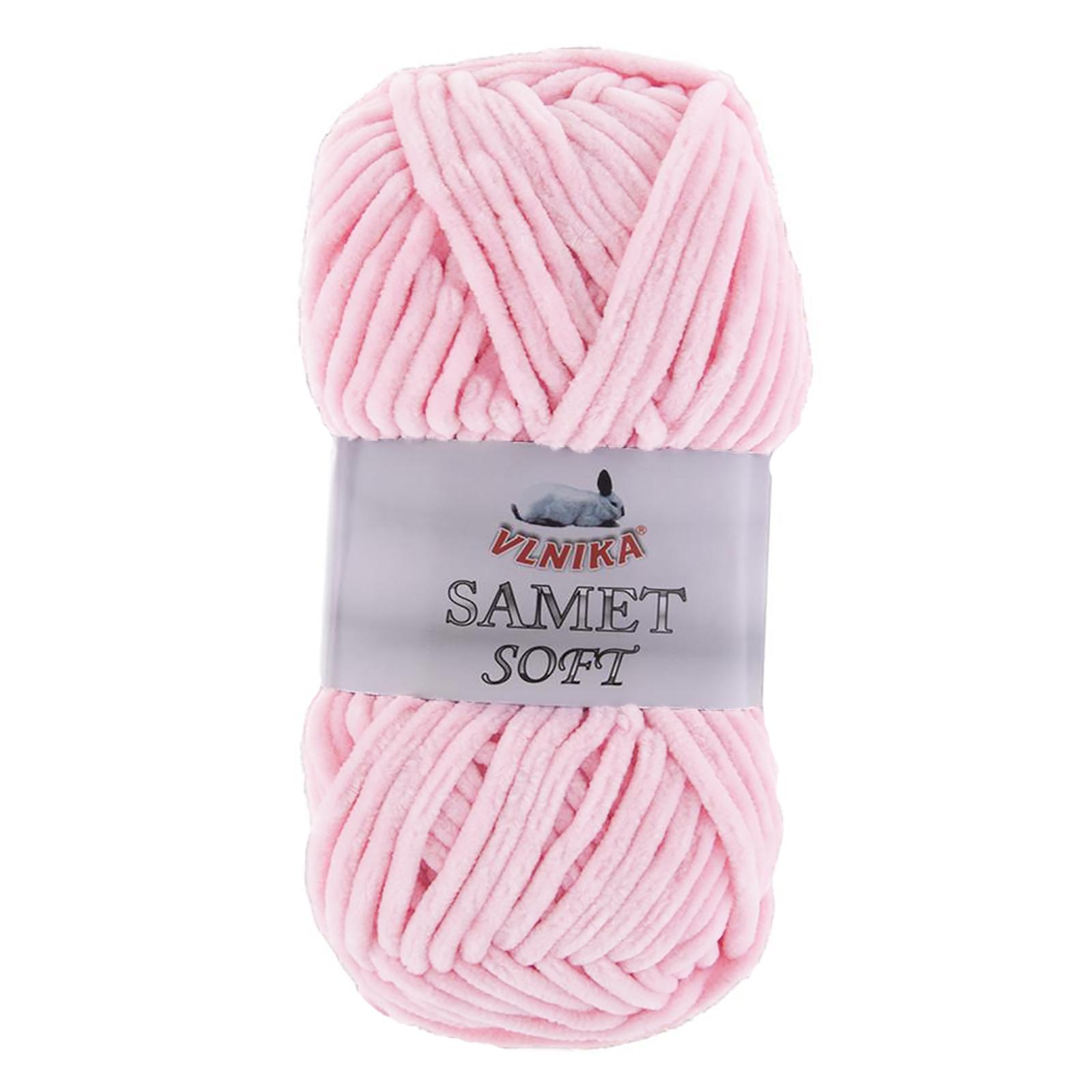 100g Strickgarn Samet Soft Chenille-Strickgarn Samtwolle Strickwolle flauschige Farbwahl – Bild 2