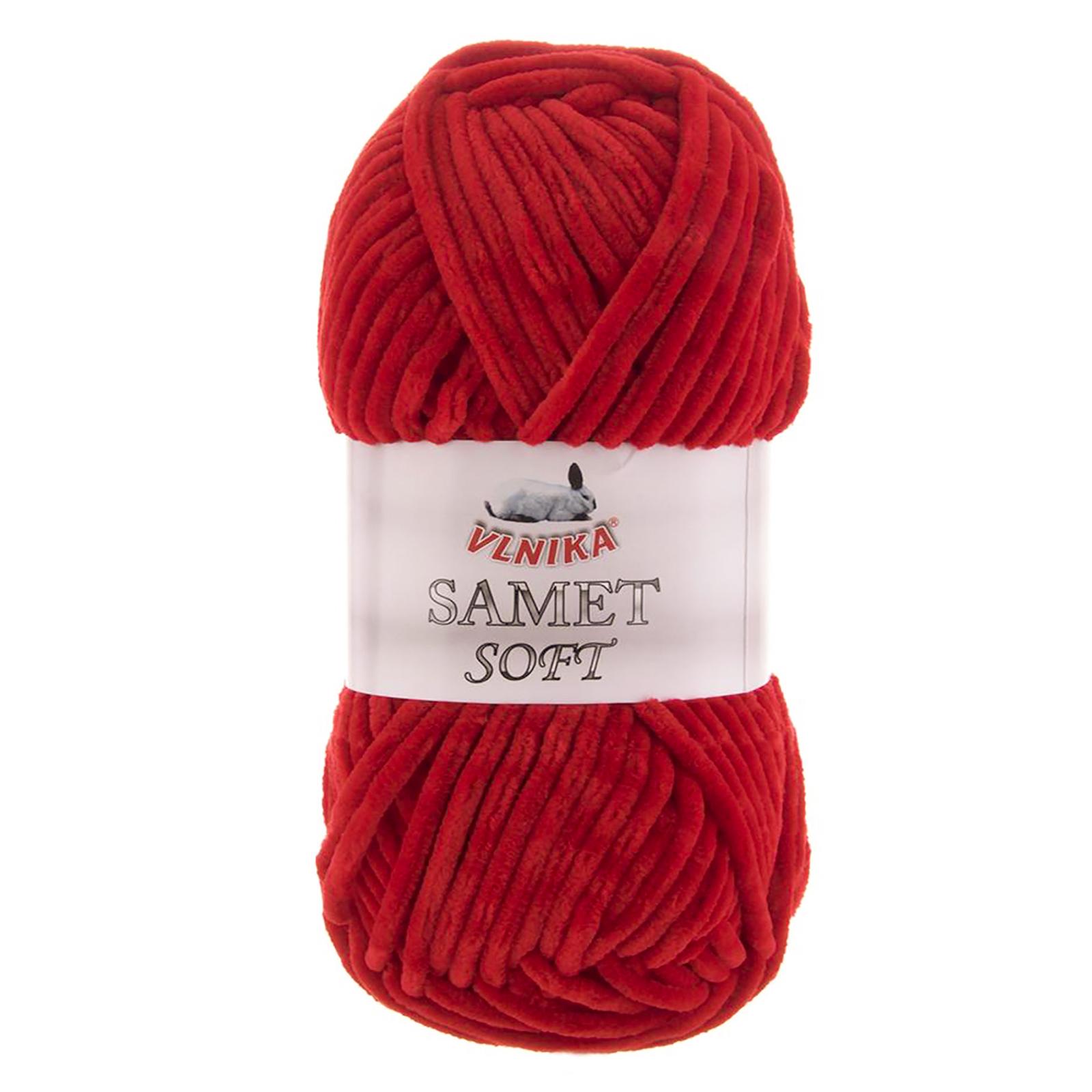 100g Strickgarn Samet Soft Chenille-Strickgarn Samtwolle Strickwolle flauschige Farbwahl – Bild 11