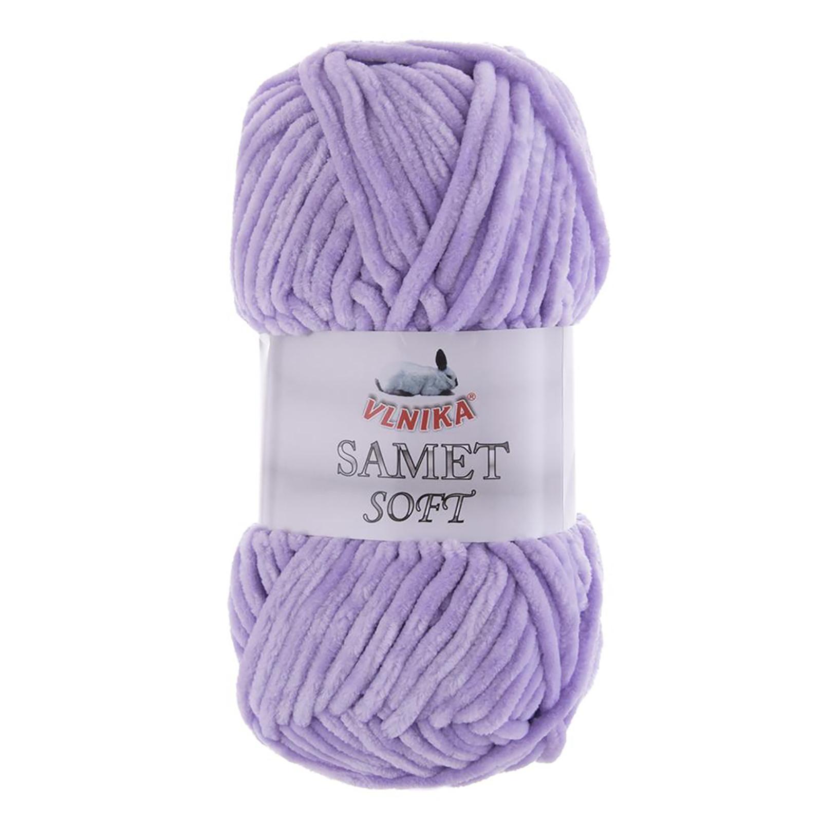 100g Strickgarn Samet Soft Chenille-Strickgarn Samtwolle Strickwolle flauschige Farbwahl – Bild 17