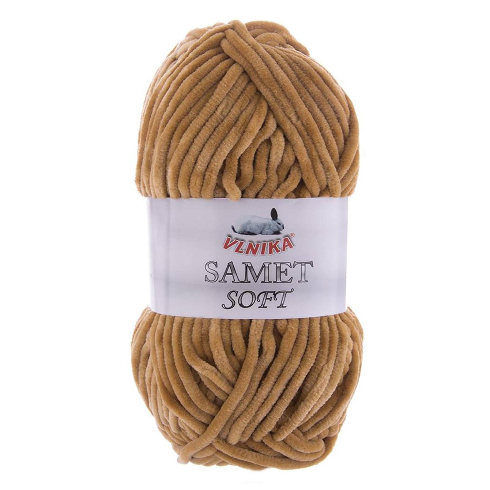 100g Strickgarn Samet Soft Chenille-Strickgarn Samtwolle Strickwolle flauschige Farbwahl – Bild 7