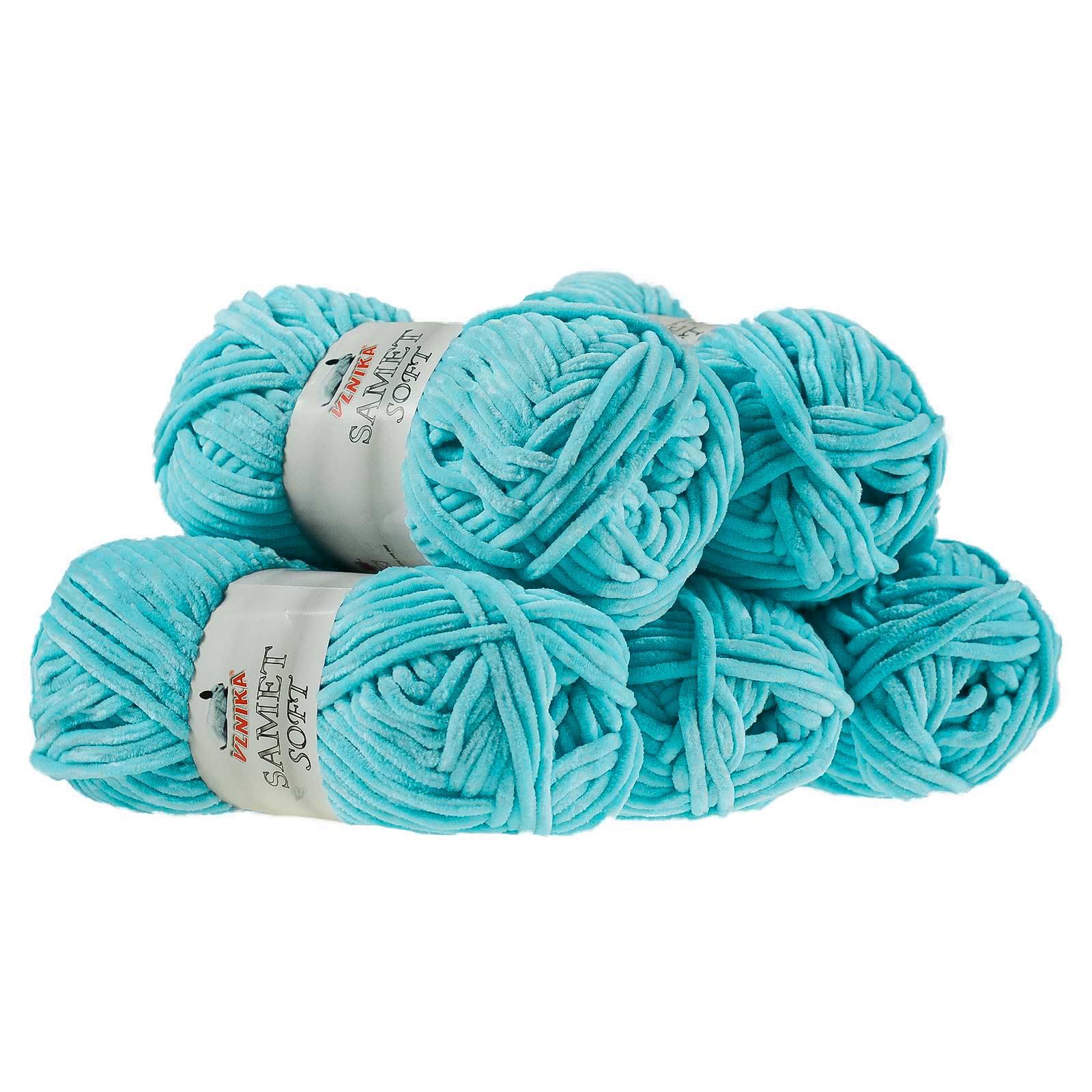 500g Strickgarn Samet Soft Chenille-Strickgarn Samtwolle Strickwolle flauschige Farbwahl – Bild 16
