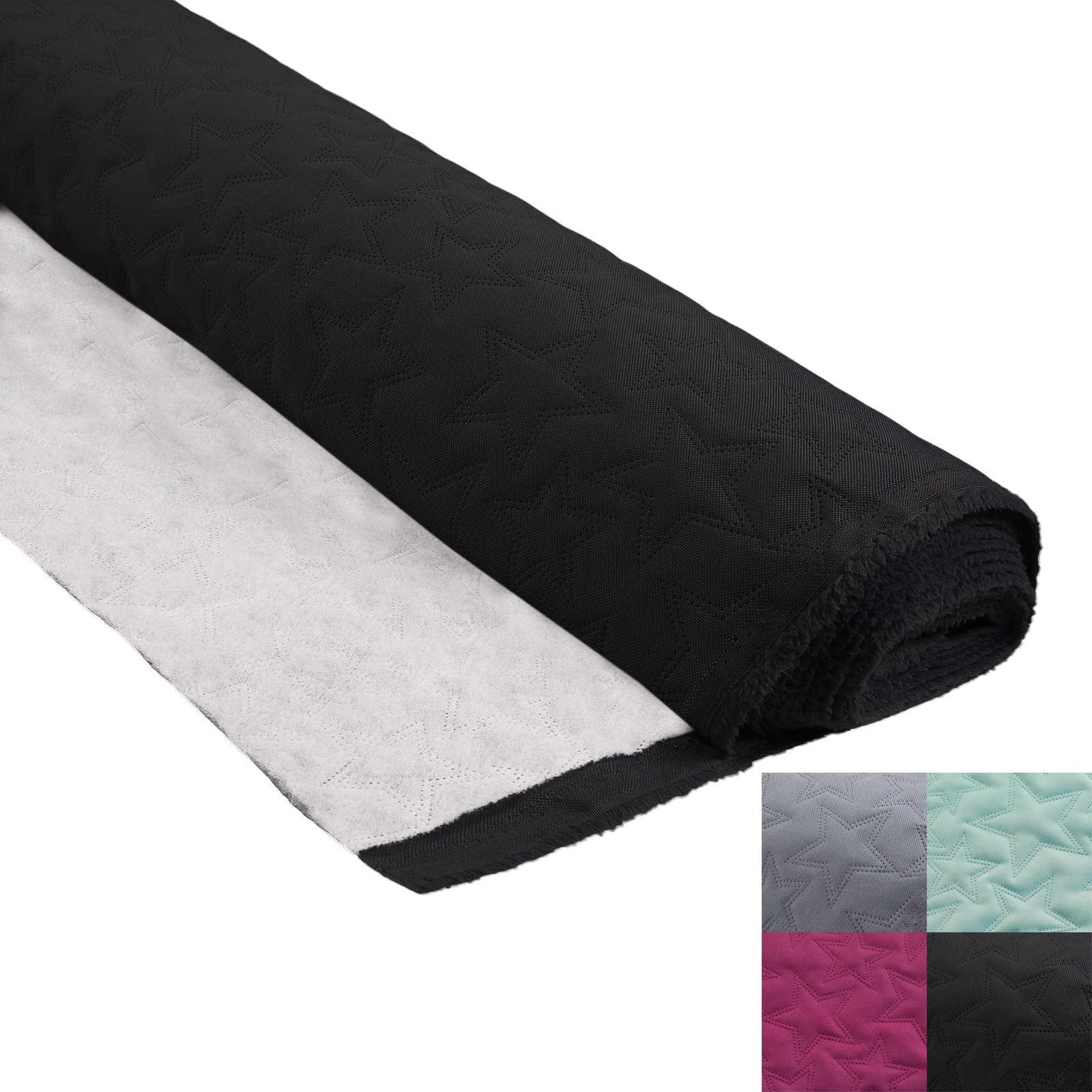 1m Steppstoff Muster Stern Steppfutter 160cm Meterware Oxford 600D PU-beschichtet Polsterstoff Farbwahl – Bild 2